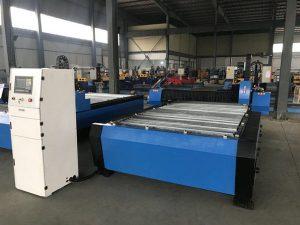 Kina 1325 1530 billig fakkel højde controller plasma huayuan metal stål skæring cnc plasma skæremaskine