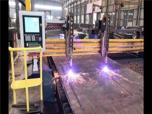 Dobbelt drev Gantry CNC Plasmaskæremaskine H Beam Produktionslinje Hypertherm CNC System